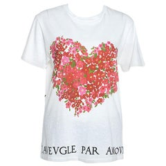Gucci White Cotton Floral Corsage Print T-Shirt S