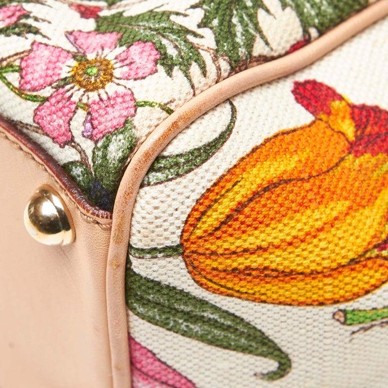Gucci White Flora Jackie Shoulder Bag 6