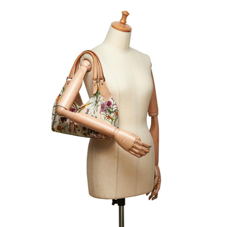 Gucci White Flora Jackie Shoulder Bag 10