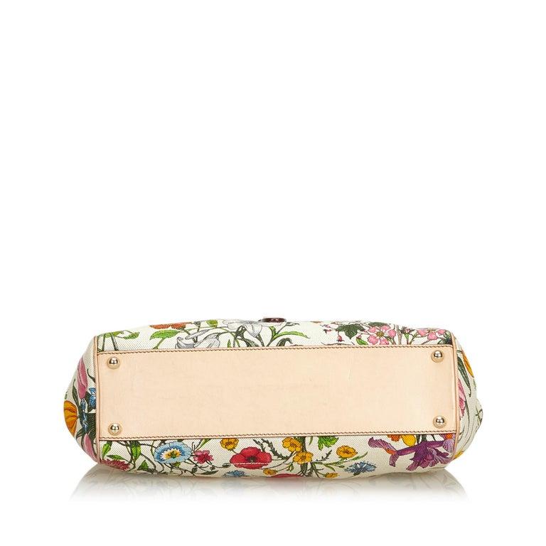 Women's Gucci White Flora Jackie Shoulder Bag