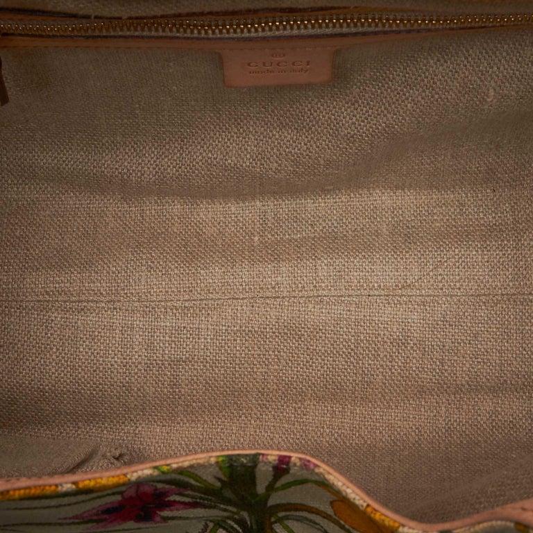 Gucci White Flora Jackie Shoulder Bag 1