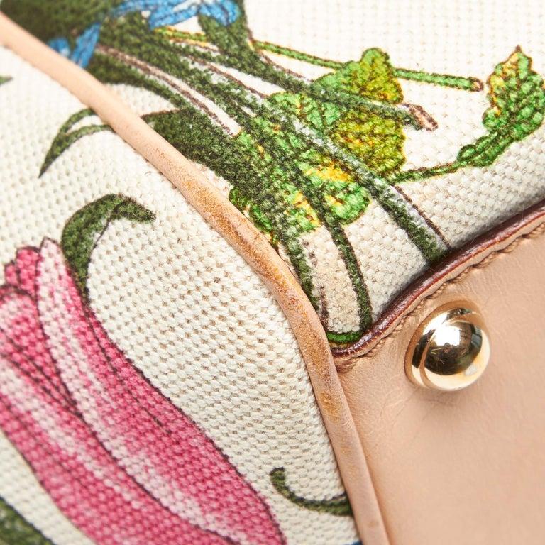 Gucci White Flora Jackie Shoulder Bag 5