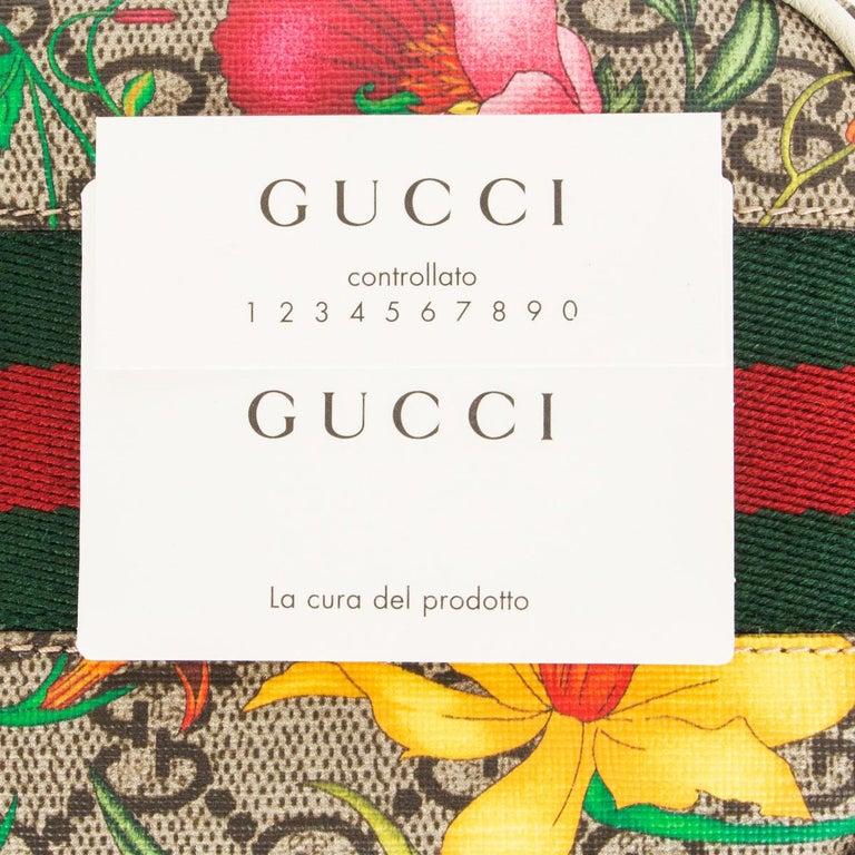 GUCCI white FLORAL GG SUPREME OPHIDIA MINI PHONE Bag For Sale 2