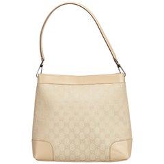 Gucci White Guccissima Canvas Shoulder Bag
