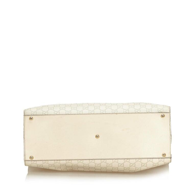 Women's Gucci White Guccissima Leather Jackie Tote