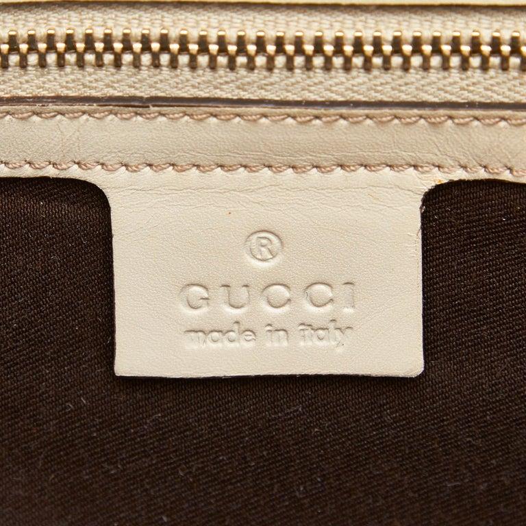Gucci White Guccissima Leather Jackie Tote 2
