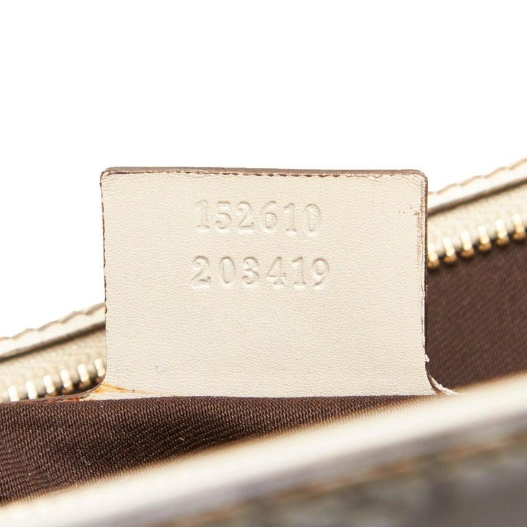 Gucci White Guccissima Leather Jackie Tote 3