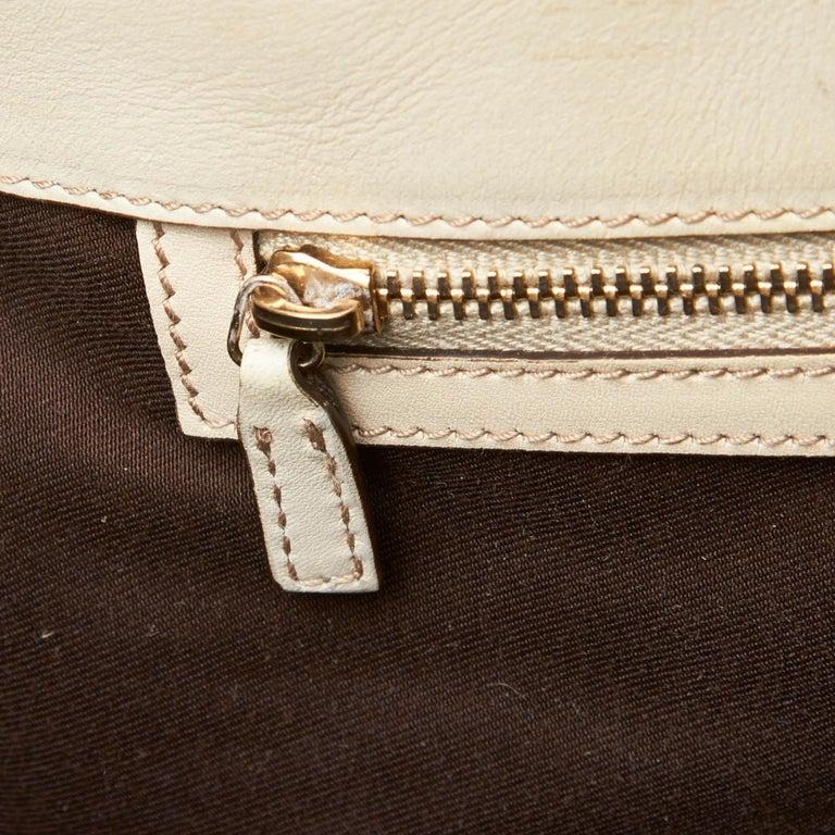 Gucci White Guccissima Leather Jackie Tote 4