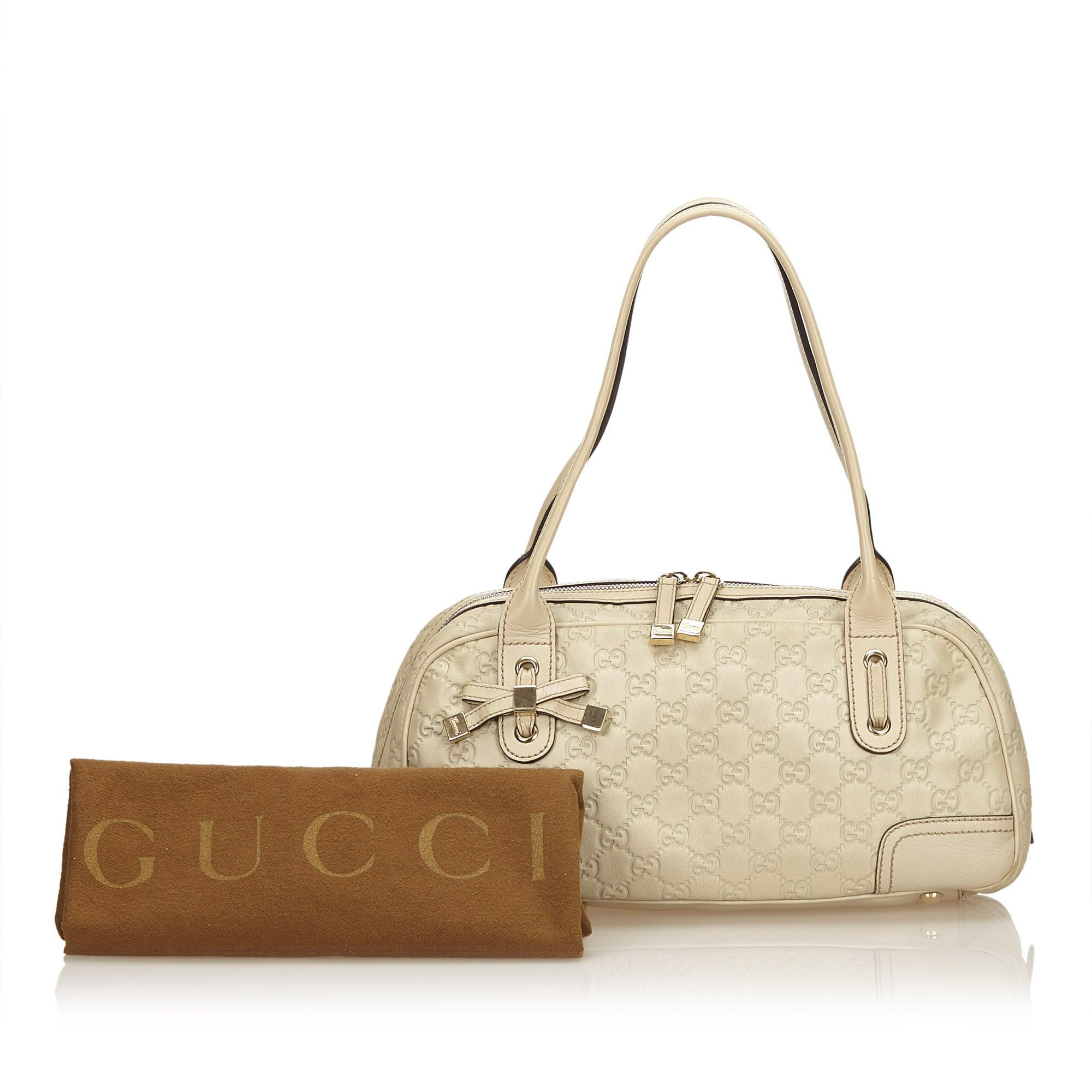 71ef7fe18 Gucci White Guccissima Leather Princy Shoulder Bag For Sale at 1stdibs