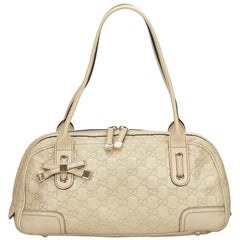 Gucci White Guccissima Leather Princy Shoulder Bag