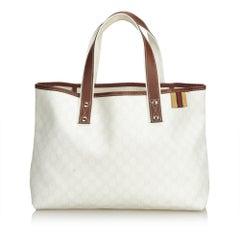 Gucci White Guccissima Tote Bag