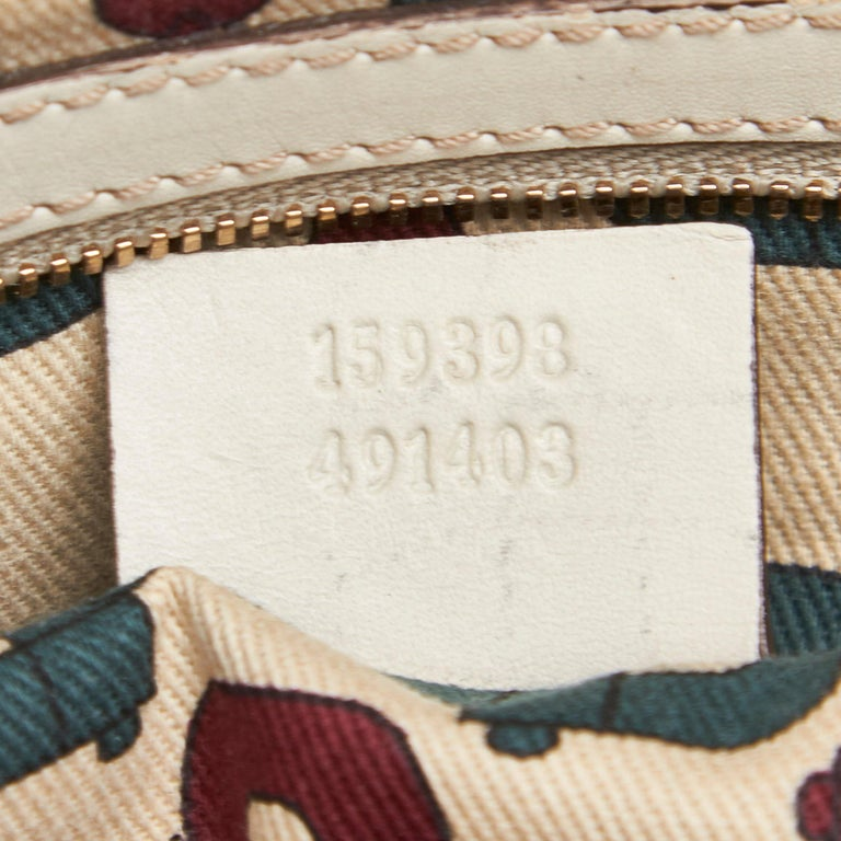 Gucci White Ivory Leather Guccissima Wave Handbag Italy For Sale 3