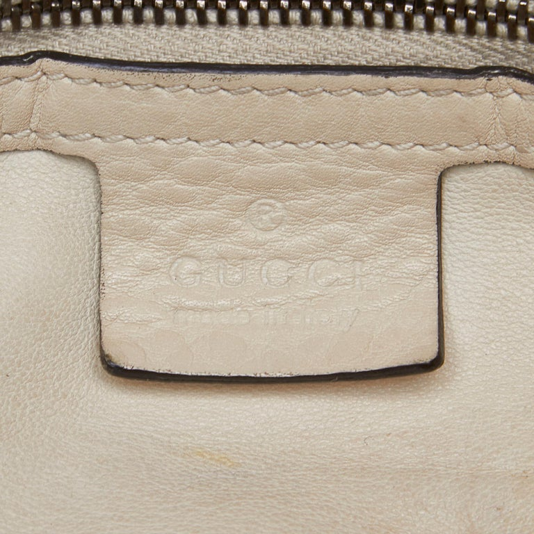 Gucci White Ivory Leather Icon Bit Satchel Italy For Sale 2