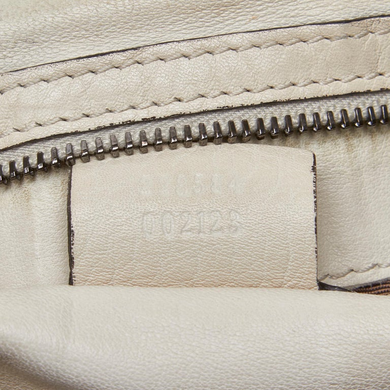 Gucci White Ivory Leather Icon Bit Satchel Italy For Sale 3