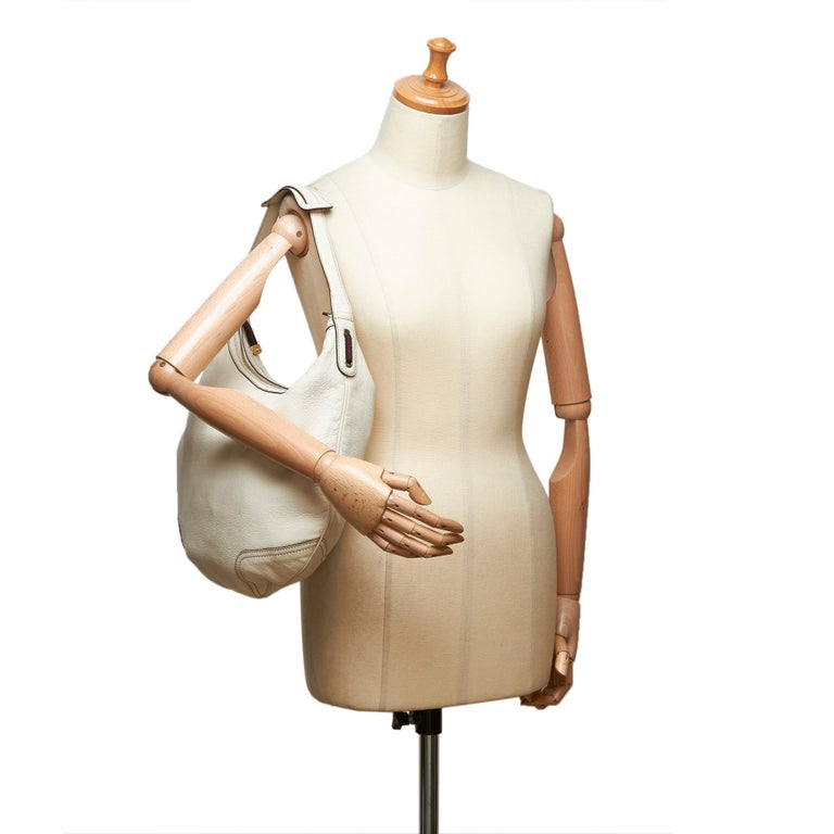 Gucci White Ivory Leather Princy Hobo Bag Italy For Sale 6