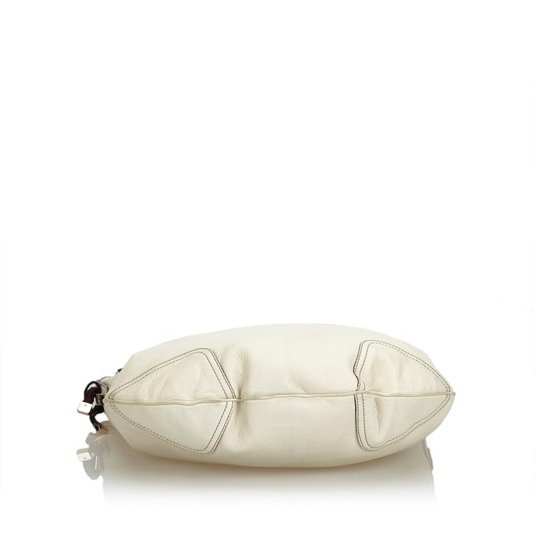 Women's Gucci White Ivory Leather Princy Hobo Bag Italy For Sale