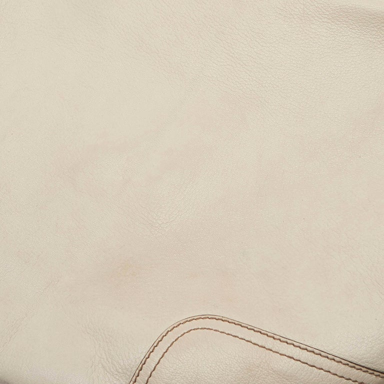 Gucci White Ivory Leather Princy Hobo Bag Italy For Sale 4