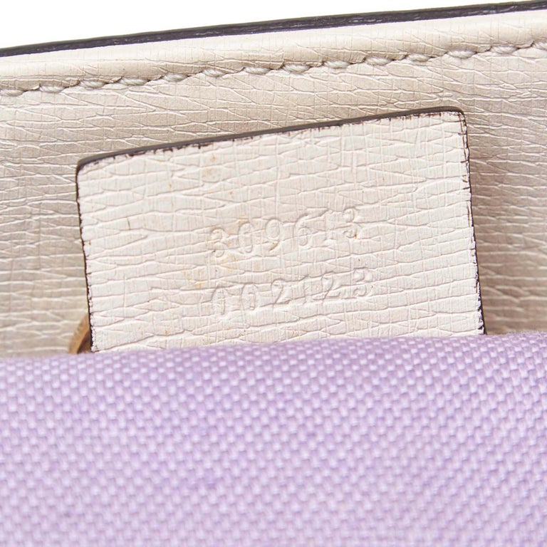 Gucci White Ivory with Multi  Leather Flora Nice Tote Italy w/ Dust Bag 3