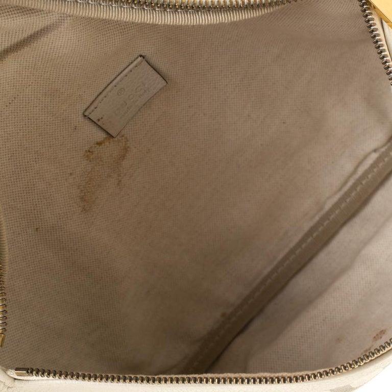Gucci White Leather Belt Bag 6