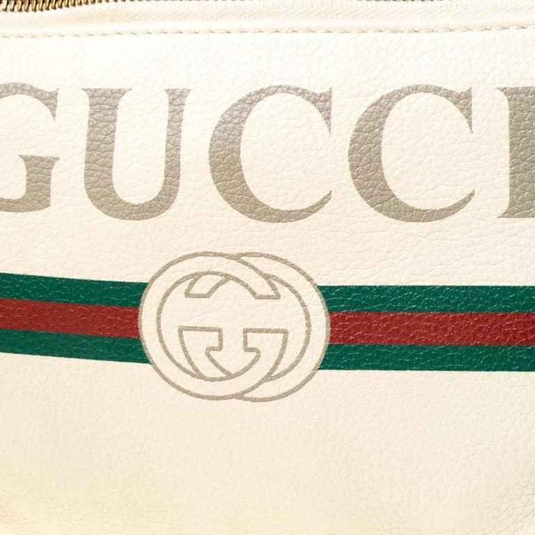 Gucci White Leather Belt Bag 7