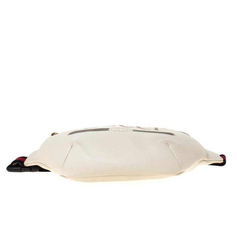Gucci White Leather Belt Bag 8
