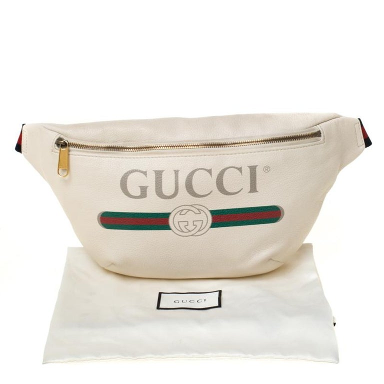 Gucci White Leather Belt Bag 9