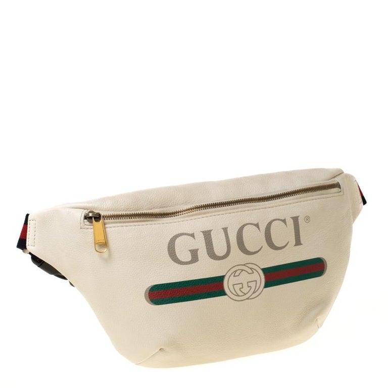 Women's Gucci White Leather Belt Bag