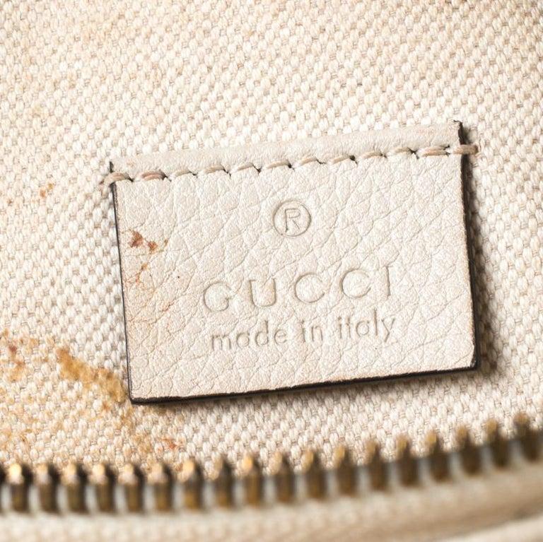 Gucci White Leather Belt Bag 1