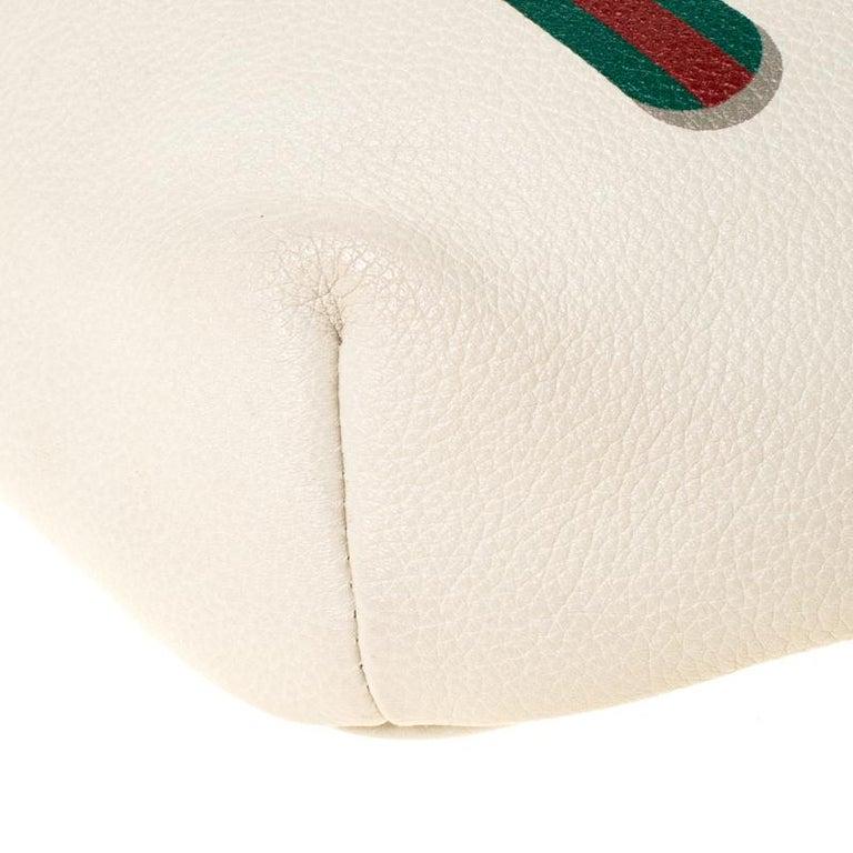 Gucci White Leather Belt Bag 2