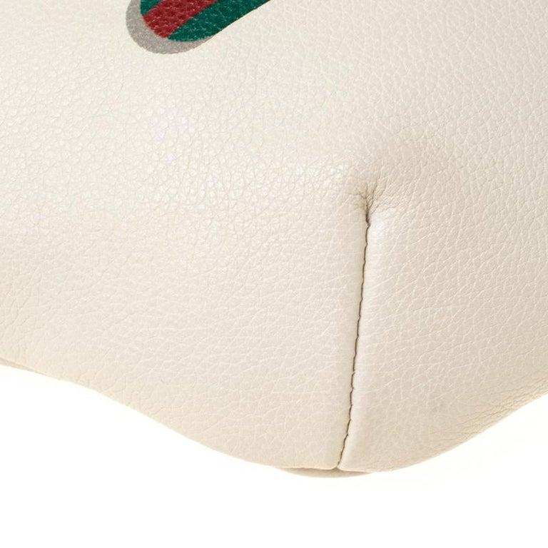 Gucci White Leather Belt Bag 3