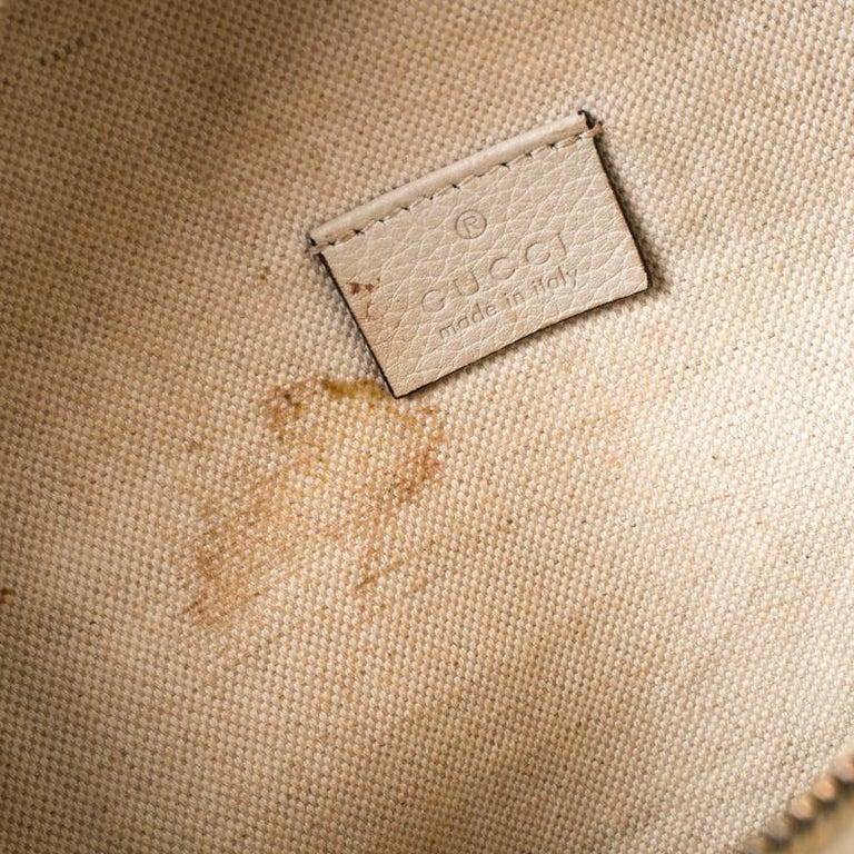 Gucci White Leather Belt Bag 5