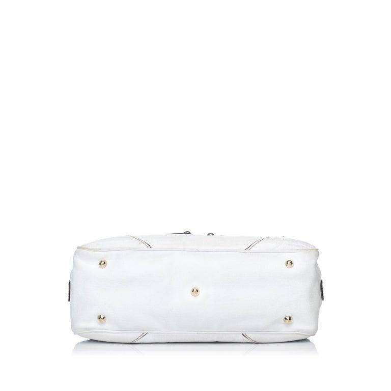 691461b8174 Gucci White Leather Capri Shoulder Bag In Good Condition For Sale In  Orlando
