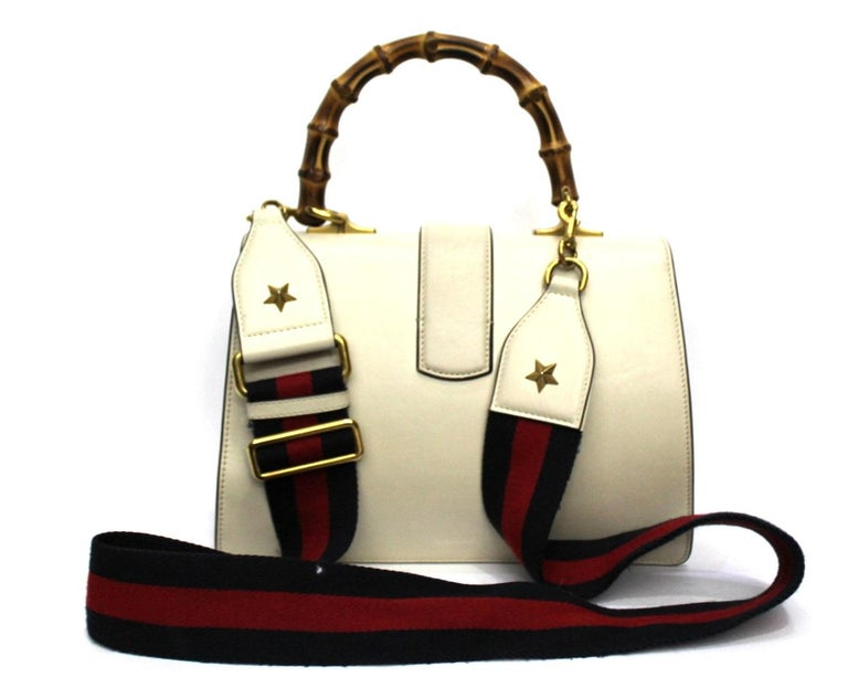 Gucci White Leather Dionysus Bag In Excellent Condition For Sale In Torre Del Greco, IT