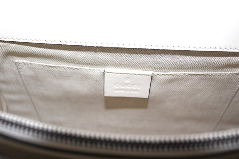 Women's Gucci White Leather Dionysus Bag For Sale