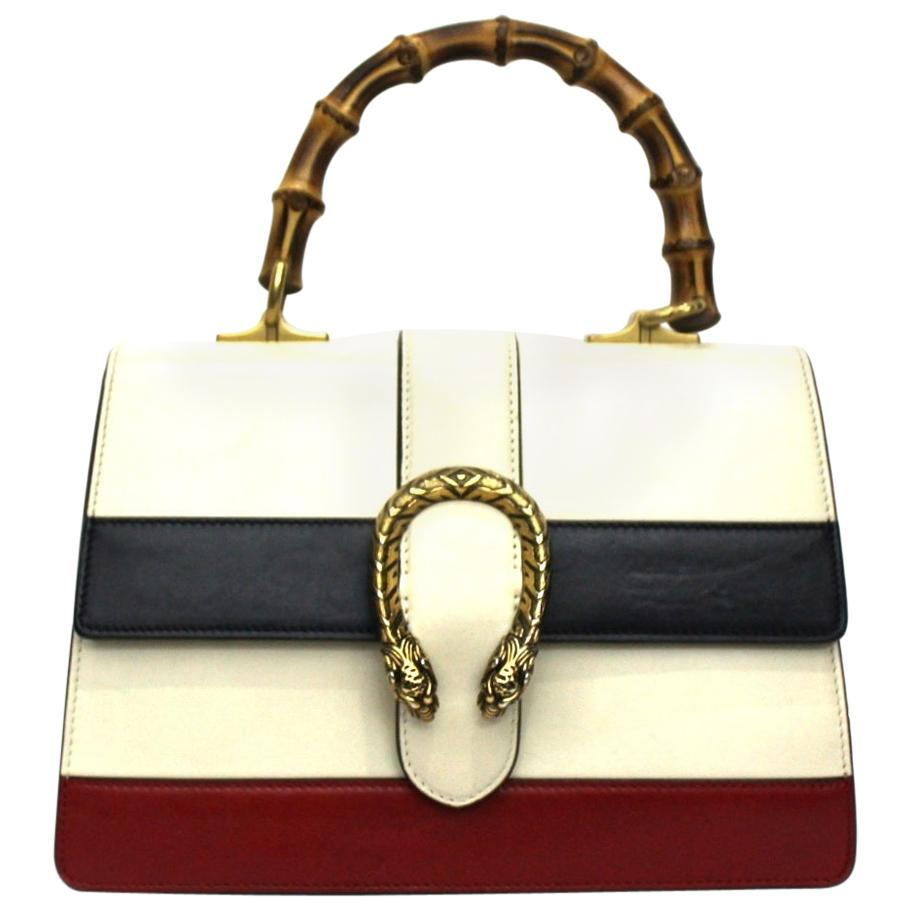 Gucci White Leather Dionysus Bag