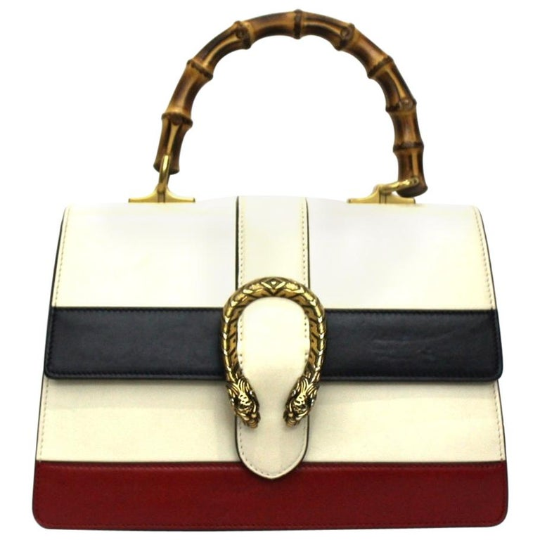 Gucci White Leather Dionysus Bag For Sale
