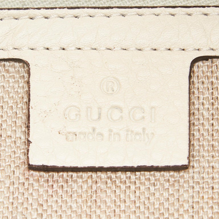 Gucci White Leather Greenwich Hobo 2