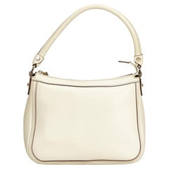 Gucci White Leather Hobo
