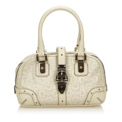 Gucci White Leather Horsebit Handbag
