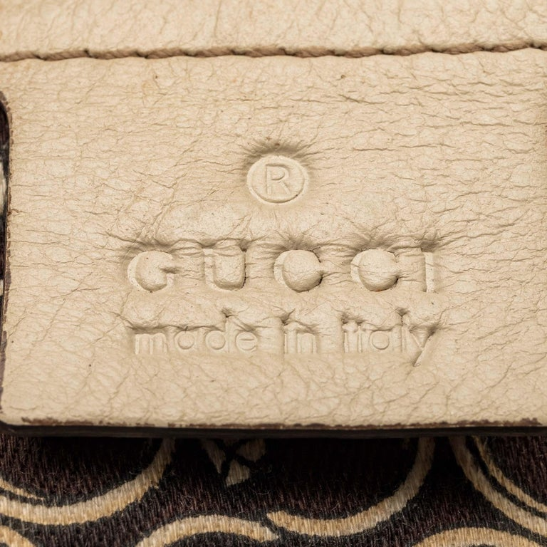 Gucci White  Leather Horsebit Satchel Italy For Sale 2