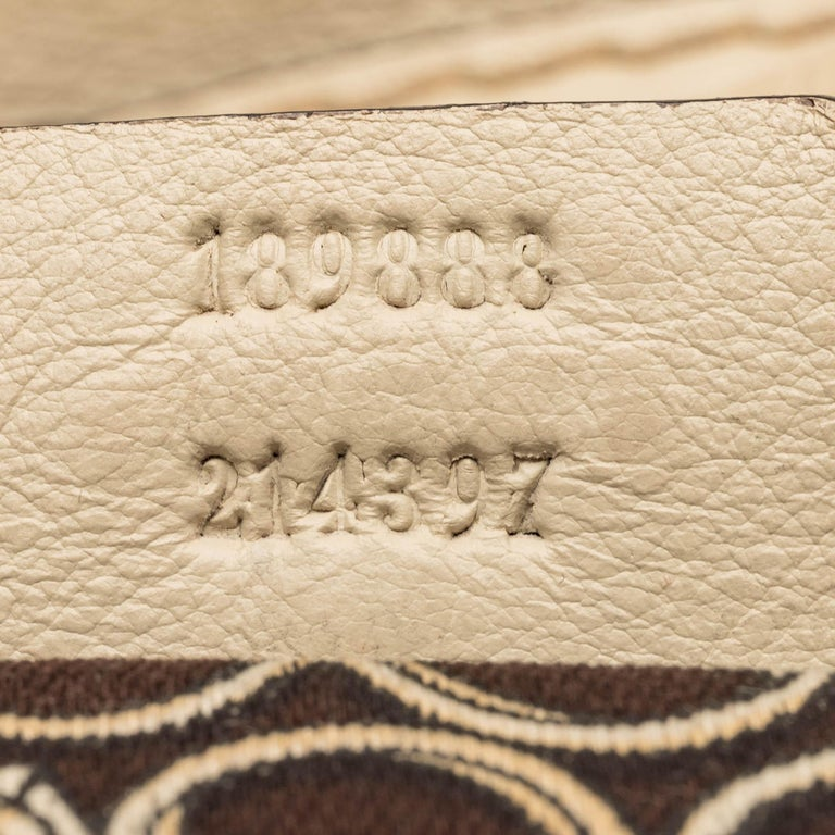 Gucci White  Leather Horsebit Satchel Italy For Sale 3