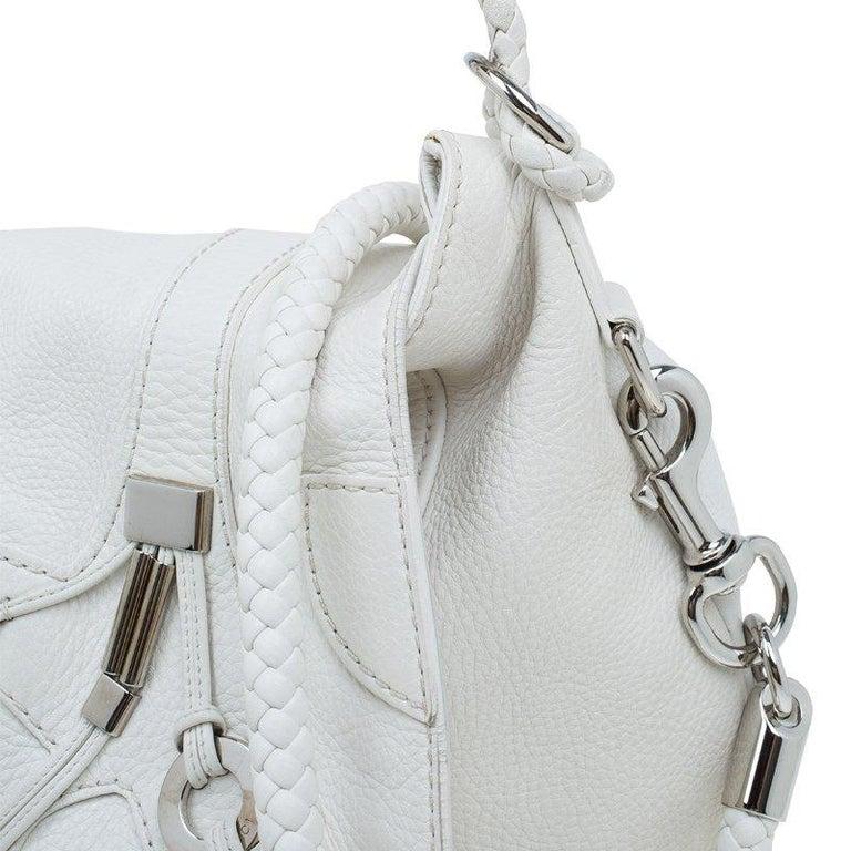 f2c095a908b20e Gucci White Leather Large Techno Horsebit Flap Shoulder Bag For Sale ...