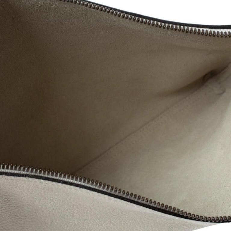 Gucci White Leather Logo Porforlio Pouch 4