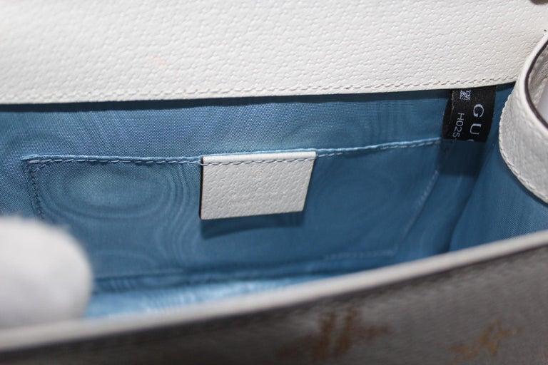 Gucci White Leather Mini Sylvie Bee Star Gucci Bag For Sale 6
