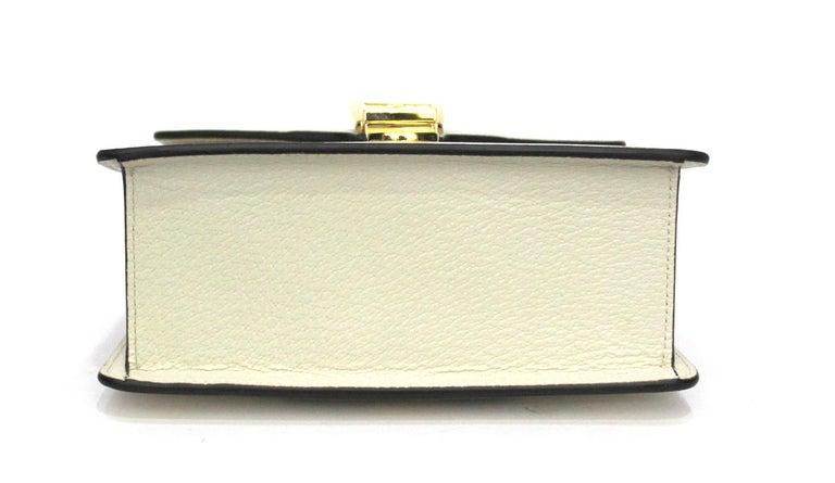 Gucci White Leather Mini Sylvie Bee Star Gucci Bag In New Condition For Sale In Torre Del Greco, IT