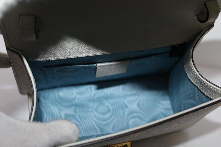 Gucci White Leather Mini Sylvie Bee Star Gucci Bag For Sale 5