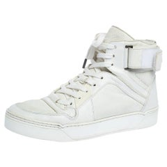 Gucci White Leather New Basketball High Top Sneakers Size 42.5