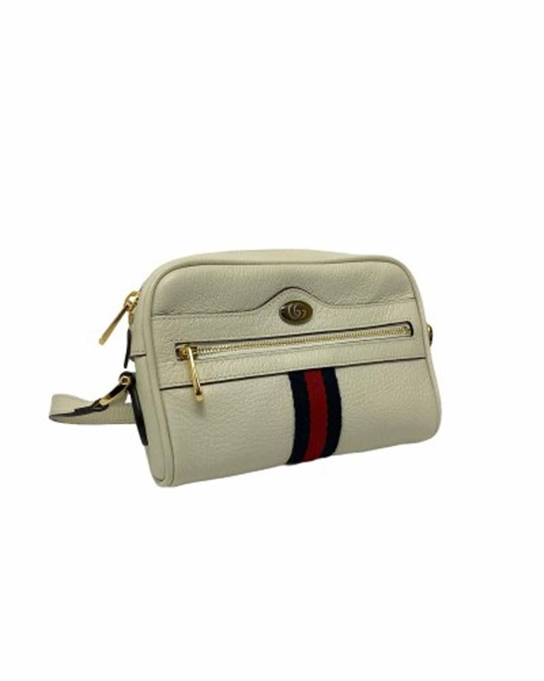 Gucci White Leather Ophidia Bag In Excellent Condition For Sale In Torre Del Greco, IT