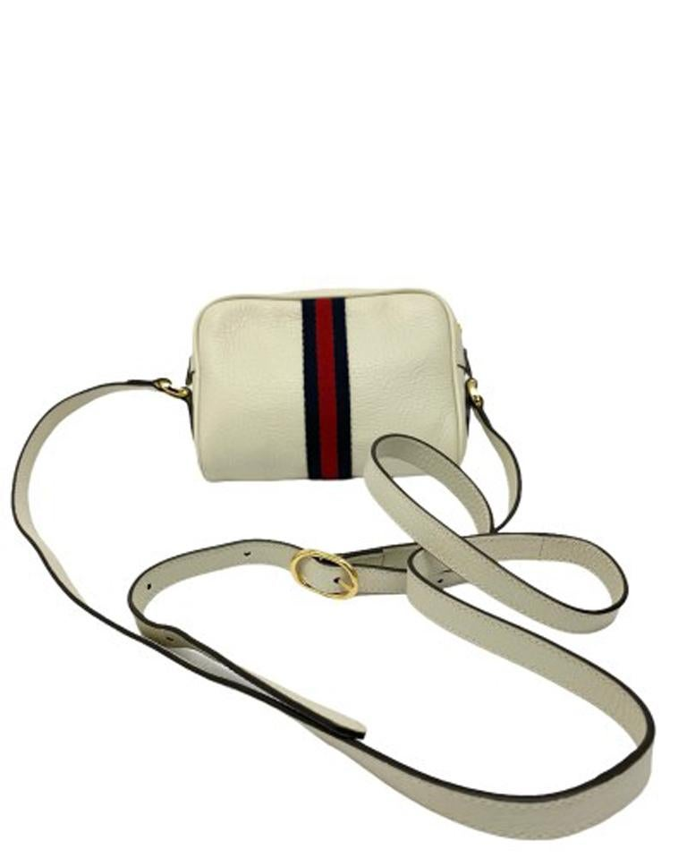 Women's Gucci White Leather Ophidia Bag For Sale