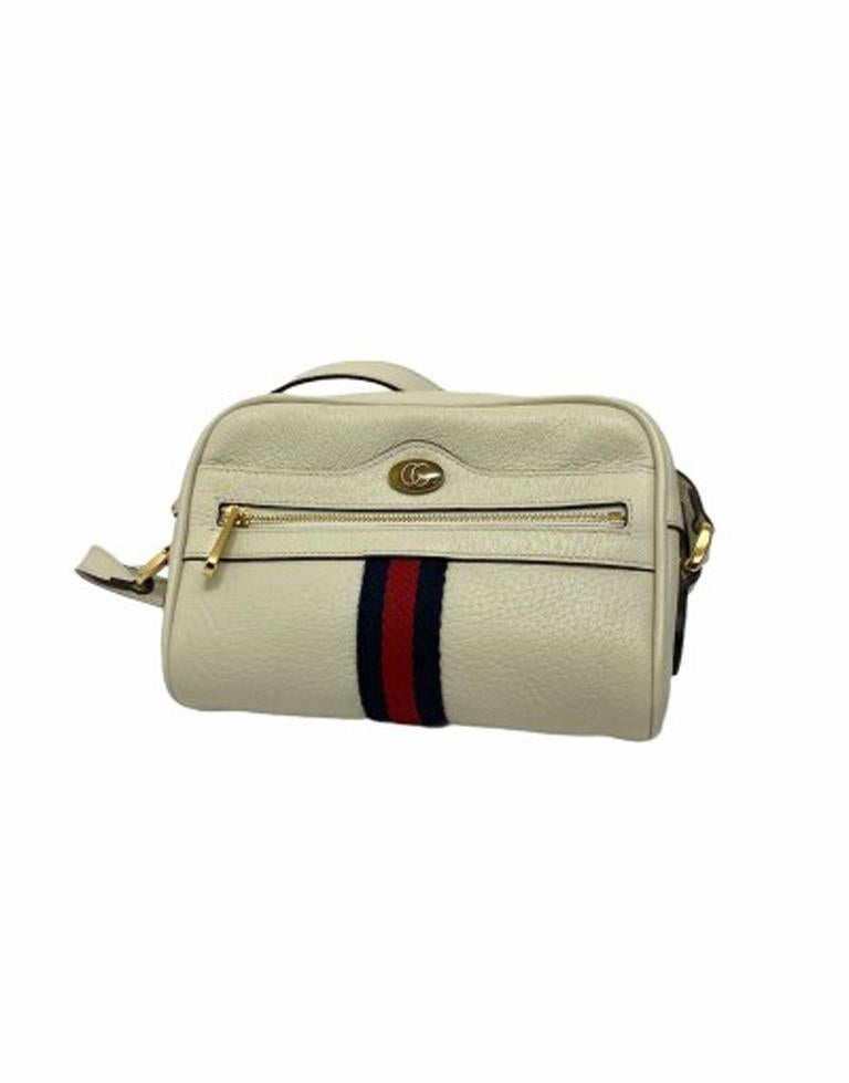 Gucci White Leather Ophidia Bag For Sale 1